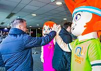 Den Bosch, The Netherlands, Februari 9, 2019,  Maaspoort , FedCup  Netherlands - Canada, Love and ace<br /> Photo: Tennisimages/Henk Koster