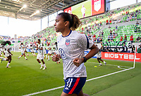 AUSTIN, TX - JUNE 16: Catarina Macario #11 of the USWNT enters the field before a game between Nigeria and USWNT at Q2 Stadium on June 16, 2021 in Austin, Texas.
