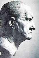 Greek Art:  Roman Sculpture--Portrait Bust, 1st Century B.C.   E.A. Gutkind, Vol. IV.