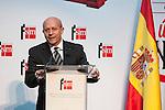 Culture Minister Ignacio Wert attends the 'Barco de Vapor' literature awards at the Casa de Correos in Madrid, Spain. April 21, 2015. (ALTERPHOTOS/Victor Blanco)