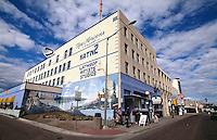 USA, Alaska, Gebäude auf der 1st Avenue in Fairbanks