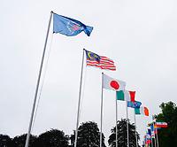3rd July 2021; Mount Juliet Golf Club, Kilkenny, Ireland; Dubai Duty Free Irish Open Golf, Day Three; The internal flags in the breeze