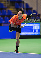 Rotterdam,Netherlands, December 15, 2015,  Topsport Centrum, Lotto NK Tennis, Jesse Timmermans (NED)<br /> Photo: Tennisimages/Henk Koster