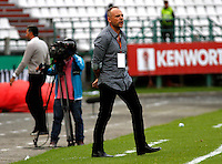 MANIZALES -COLOMBIA, 14-08-2016. Javier Torrente director técnico del Once Caldas . Acción de juego entre Once Caldas y Deportivo Cali durante encuentro  por la fecha 8 de la Liga Aguila II 2016 disputado en el estadio Palogrande./ Javier Torrente coach of Once Caldas ,Action game between Once Caldas y Deportivo Cali during match for the date 8 of the Aguila League II 2016 played at Palogrande stadium . Photo:VizzorImage / Santiago Osorio  / Contribuidor