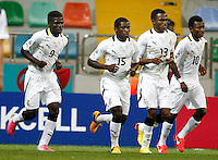 Ghana's Kennedy Ashia (2ndL) celebrate his goal with team mate during their FIFA U-20 World Cup Turkey 2013 Group Stage Group A soccer match Ghana betwen USA at the Kadir Has stadium in Kayseri on June 27, 2013. Photo by Aykut AKICI/isiphotos.com