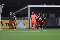 WASHINGTON, DC - AUGUST 25: D.C. United entering the field during a game between New England Revolution and D.C. United at Audi Field on August 25, 2020 in Washington, DC.
