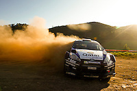 Mads Ostberg and Jonas Andersson, Ford Fiesta RS WRC QATAR M-SPORT WORLD RALY TEAM during WRC Vodafone Rally de Portugal 2013, in Algarve, Portugal on April 14, 2013 (Photo Credits: Paulo Oliveira/DPI/NortePhoto)