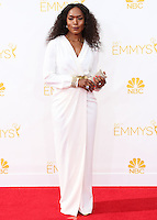 LOS ANGELES, CA, USA - AUGUST 25: Actress Angela Bassett arrives at the 66th Annual Primetime Emmy Awards held at Nokia Theatre L.A. Live on August 25, 2014 in Los Angeles, California, United States. (Photo by Celebrity Monitor)