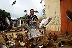 Clauda Speville, habitant le hameau de  Pistache, fermière et agricultrice
