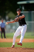 Jackson Thomas (22) during the WWBA World Championship at Terry Park on October 10, 2020 in Fort Myers, Florida.  Jackson Thomas, a resident of Mesa, Arkansasizona who attends Mountain View High School.  (Mike Janes/Four Seam Images)