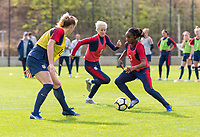 Lisbon, Portugal - November 2, 2018:  The USWNT trains in preparation for an international friendly against Portugal.