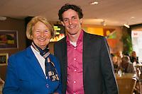 August 17, 2014, Netherlands, Raalte, TV Ramele, Tennis, National Championships, NRTK, Final :  Marja Bongers (L) and Guus van Berkel <br /> Photo: Tennisimages/Henk Koster