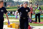 EMTs at a scene of a mass casualty incident