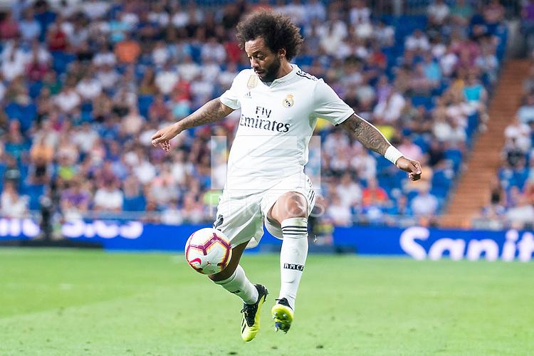 Real Madrid Marcelo during La Liga match between Real Madrid and Getafe CF at Santiago Bernabeu in Madrid, Spain. August 19, 2018.  *** Local Caption *** © pixathlon