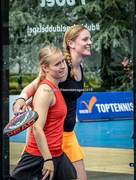 Rosmalen, Netherlands, 15 June, 2019, Tennis, Libema Open, NK Padel, Final Padel womans double: Milou Ettekoven (NED) and Marcella Koek (NED) (R)<br /> Photo: Henk Koster/tennisimages.com