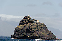 Leuchtturm auf Ilheu dos Passaros vor Mindelo, Sao Vicente, Kapverden, Afrika