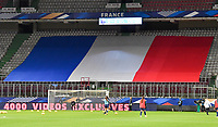 The French Flag pictured during the Womens International Friendly game between France and Switzerland at Stade Saint-Symphorien in Longeville-lès-Metz, France.