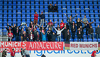 Bayern Munich supporters during the Premier League International Cup match between Reading U23 and Bayern Munich II at the Madejski Stadium, Reading, England on 1 April 2019. Photo by Andy Rowland.
