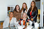 Enjoying the evening in Bella Bia on Thursday, seated l to r: Kaylee Molloy and Michaela Murphy. Back l to r: Tara Murphy, Maura Adams and Heather Rowe