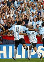 Argentina team celebrates, Argentina vs. USA, Miami, Fla.