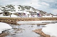 breakaway group up the Passo San Bernardino (2065m/SUI)<br /> <br /> 104th Giro d'Italia 2021 (2.UWT)<br /> Stage 20 (through Switzerland) from Verbania to Valle Spluga-Alpe Motta (164km)<br /> <br /> ©kramon