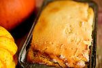 Fresh bread in pan.  Gluten Free bread baked from recipe by Douglas Orton.