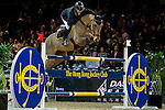 John Whitaker of United Kingdom riding Lord Of Arabia in action during the Laiterie De Montaigu Trophy as part of the Longines Hong Kong Masters on 14 February 2015, at the Asia World Expo, outskirts Hong Kong, China. Photo by Victor Fraile / Power Sport Images