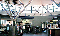 Rob W. Quigley: Linda Vista Library Interior. Looking back from north reading room to stacks? Photo '97.