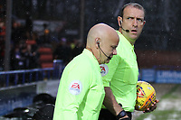 Referee, Carl Boyeson,  during the Sky Bet League 1 match between Rochdale and Plymouth Argyle at Spotland Stadium, Rochdale, England on 15 December 2018. Photo by James  Gill / PRiME Media Images.