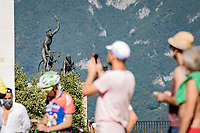 up the Madonna del Ghisallo (754m) fans await the riders<br /> <br /> 114th Il Lombardia 2020 (1.UWT)<br /> 1 day race from Bergamo to Como (ITA/231km) <br /> <br /> ©kramon