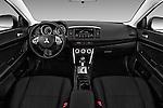 Stock photo of straight dashboard view of 2016 Mitsubishi Lancer ES-CVT 4 Door Sedan Dashboard