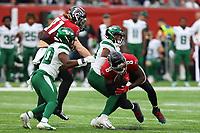 10th October 2021; Tottenham Hotspur stadium, London, England; NFL UK Series, Atlanta Falcons versus New York Jets: Atlanta Falcons Tight end Kyle Pitts (8) runs with the ball