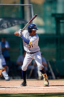 Detroit Tigers Jose Azocar (31) at bat during an Instructional League game against the Atlanta Braves on October 10, 2017 at the ESPN Wide World of Sports Complex in Orlando, Florida.  (Mike Janes/Four Seam Images)