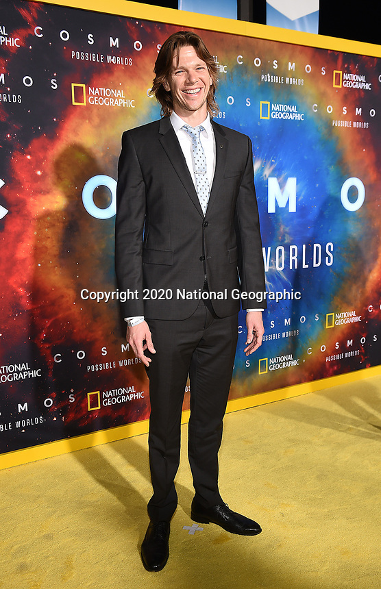 """LOS ANGELES - FEBRUARY 26: Jon Beavers attends National Geographic's 2020 Los Angeles premiere of """"Cosmos: Possible Worlds"""" at Royce Hall on February 26, 2020 in Los Angeles, California. Cosmos: Possible Worlds premieres Monday, March 9 at 8/7c on National Geographic. (Photo by Frank Micelotta/National Geographic/PictureGroup)"""