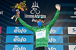 Vincenzo Albanese (ITA) Eolo-Kometa Cycling Team retains the mountains Maglia Verde at the end of Stage 2 of Tirreno-Adriatico Eolo 2021, running 202km from Camaiore to Chiusdino, Italy. 11th March 2021. <br /> Photo: LaPresse/Gian Mattia D'Alberto  | Cyclefile<br /> <br /> All photos usage must carry mandatory copyright credit (© Cyclefile | LaPresse/Gian Mattia D'Alberto)