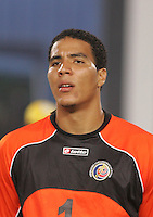 Costa Rica's Esteban Alvarado (1) stands on the pitch before the game against Brazil during the FIFA Under 20 World Cup Semi-final match at the Cairo International Stadium in Cairo, Egypt, on October 13, 2009. Brazil won the match  1-0.
