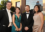 From left: Scott and Larissa Ipsen with Michael Nimocks and Amy Parsons at the Houston Grand Opera's Yellow Rose Ball at the Wortham Theater Saturday April 10,2010. (Dave Rossman Photo)