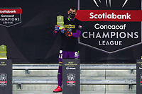 22nd December 2020, Orlando, Florida, USA;  Tigres Nahuel Guzman is awarded the best goalkeeper award after the Concacaf Championship between LAFC and Tigres UANL on December 22, 2020, at Exploria Stadium in Orlando, FL.