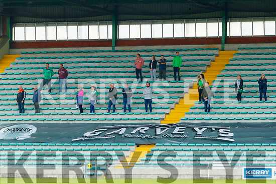 Spectators watch on before the Kerry County Minor Hurling Championship Final match between Ballyduff and Ballyheigue at Austin Stack Park in Tralee, Kerry.