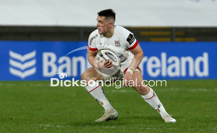 19th March 2021;   James Hume during the final round of the Guinness PRO14 against Zebre Rugby held at Kingspan Stadium, Ravenhill Park, Belfast, Northern Ireland. Photo by John Dickson/Dicksondigital