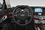 Car pictures of steering wheel view of a 2015 Infiniti Q70 Premium 4 Door Sedan 2WD Steering Wheel