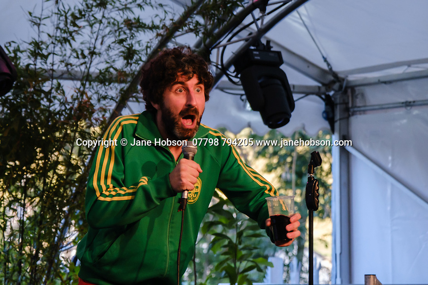 """Comedian, Mark Watson, in his show """"This Can't Be It"""" in the Pleasance Courtyard, during the Edinburgh Fringe."""
