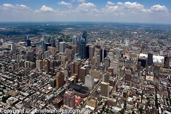 aerial photograph of Philadelphia, Pennsylvania