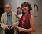 MARIO DONDERO E DONATA SCALFARI<br /> MOSTRA TULLIO PERICOLI     ARA PACIS ROMA 2010