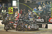 NASCAR Camping World Truck Series <br /> Lucas Oil 150<br /> Phoenix Raceway, Avondale, AZ USA<br /> Friday 10 November 2017<br /> Noah Gragson, Switch Toyota Tundra makes a pit stop, Sunoco<br /> World Copyright: Logan Whitton<br /> LAT Images