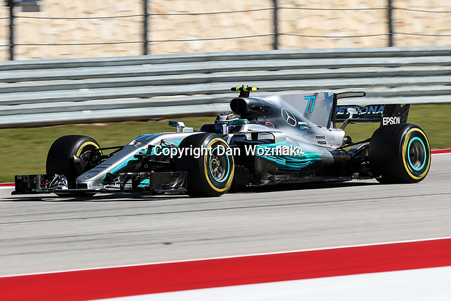 Valtteri Bottas (77) of Finland in action during the Formula 1 United States Grand Prix race at the Circuit of the Americas race track in Austin,Texas.