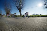 Andrew Fenn (GBR) leading the way<br /> <br /> 3 Days of West-Flanders<br /> stage 2: Nieuwpoort - Ichtegem 186km