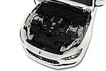 Car stock 2018 Maserati Ghibli Base 4 Door Sedan engine high angle detail view