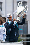 Real Madrid Raphael Varane during the celebration of the Thirteen Champions League at Cibeles Fountain in Madrid, Spain. May 27, 2018. (ALTERPHOTOS/Borja B.Hojas)