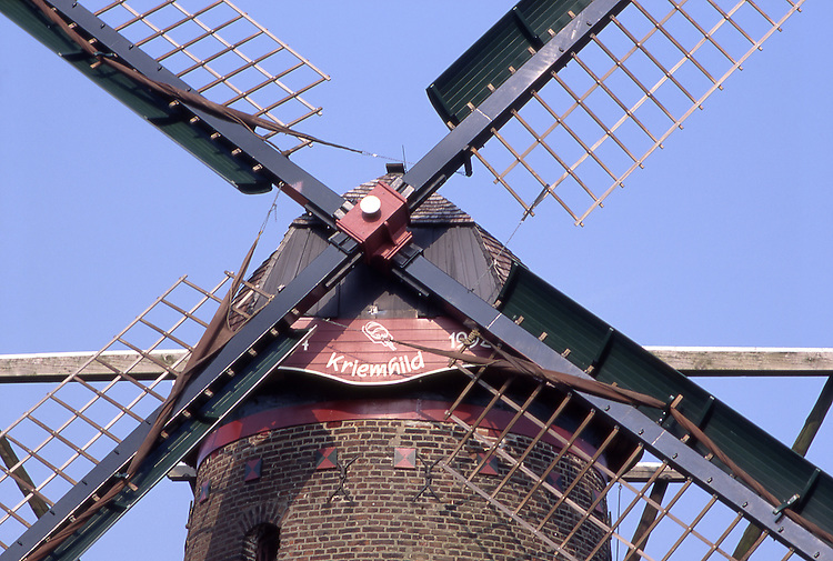 Europe, DEU, Germany, North Rhine Westphalia, Rhineland, Lower Rhine, Xanten, Windmill, Kriemhildmuehle, Detail....[ For each utilisation of my images my General Terms and Conditions are mandatory. Usage only against use message and proof. Download of my General Terms and Conditions under http://www.image-box.com or ask for sending. A clearance before usage is necessary...Material is subject to royalties. Each utilisation of my images is subject to a fee in accordance to the present valid MFM-List...Contact | archive@image-box.com | www.image-box.com ]
